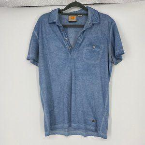Boss Orange | Size M. Blue Variated Polo Short